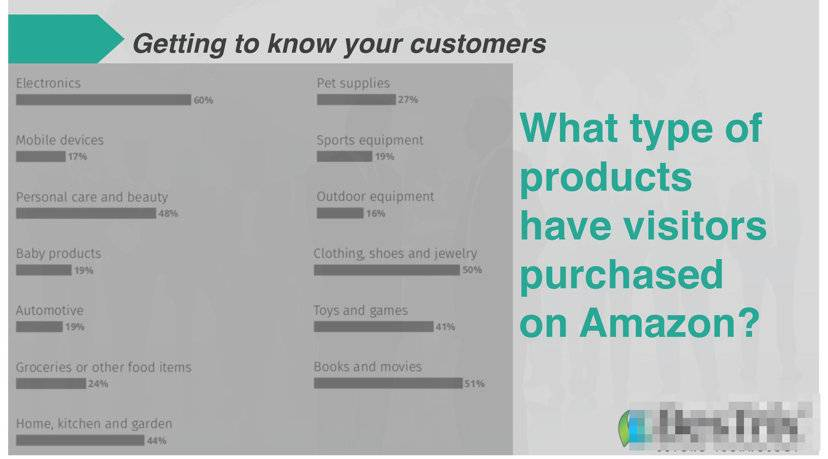 what type of products have visitors purchased on Amazon