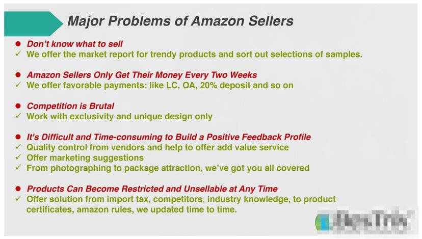 major problems of Amazon sellers