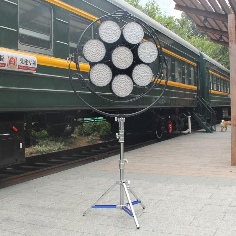 led space light beside train