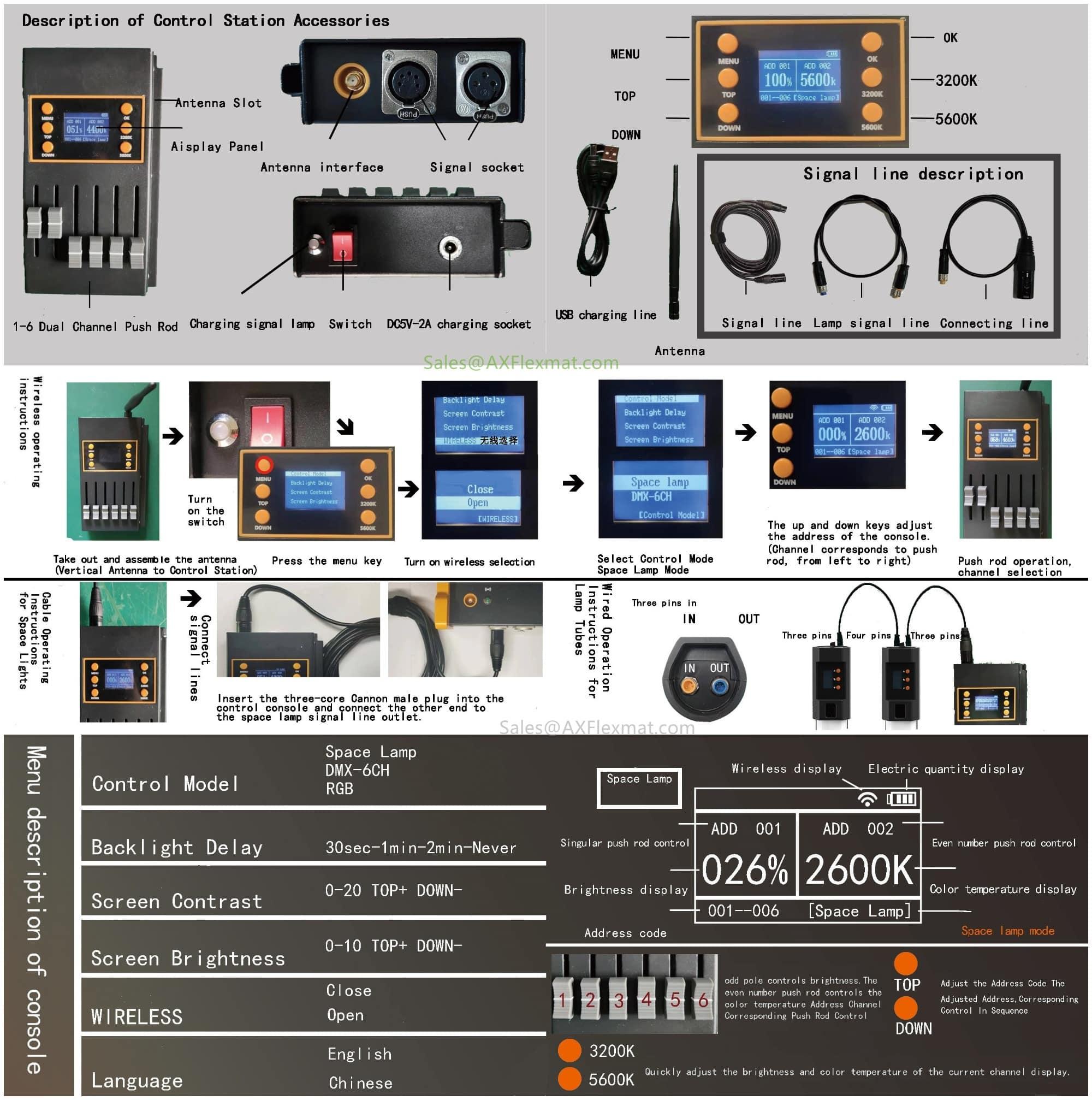 dmx wireless control instruction